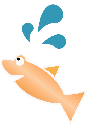 graphic jumping fish
