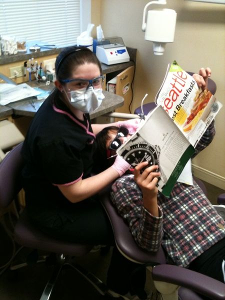 redmond pediatric dentist Andrea working